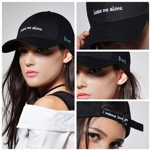 💢PREVIEW💢 BLACK Embroidered Baseball Cap